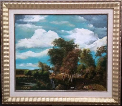 imagen cuadro paisaje Holandes enmarcado