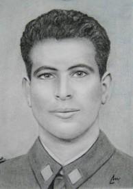 imagen de Arturo Militar sobre papel ingres