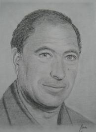 imagen de grafito sobre papel ingres Arturo