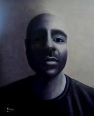 imagen retrato oleo Ali My Friend homenaje a un refugiado anonimo