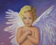 imagen de cuadro oleo Angelito