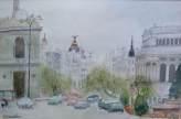 Imagen de acuarela Gran Via. Madrid