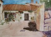 Imagen de acuarela Pueblo de Cáceres