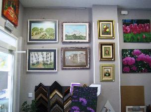 Imagenes de cuadros en tienda Todo Arte