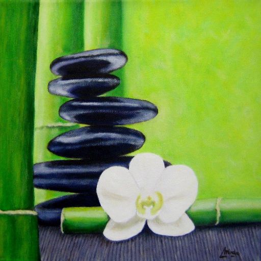 imagen de cuadro Oleo Mirelu. Título: Equilibrio