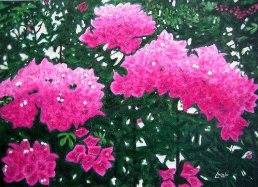 imagen de cuadro oleo Mirelu. Título: Alegria en Primavera
