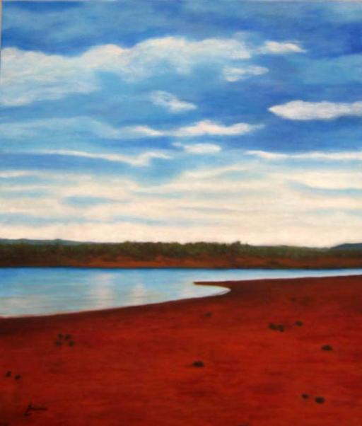 imagen de cuadro oleo Mirelu. Título: Playa Pita.
