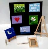 imagen de mini lienzos personalizados para regalos