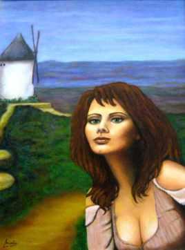 imagen de cuadro oleo sobre lienzo Dulcinea del Toboso