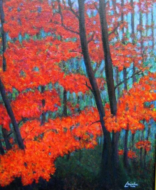 imagen cuadro  Bosque Encantado Acrilico