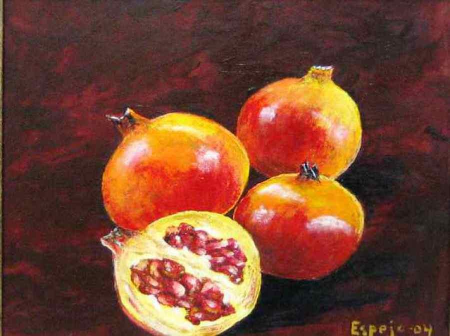 Imagen de Oleo en tabla Realista Granadas