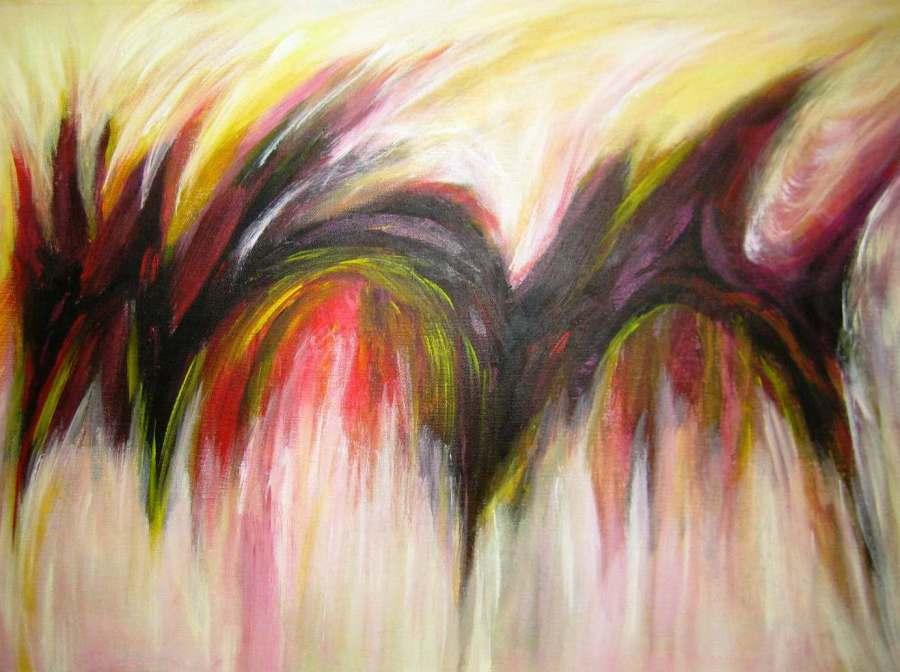 Imagen de Abstracto Trayectoria. Acrilico sobre lienzo