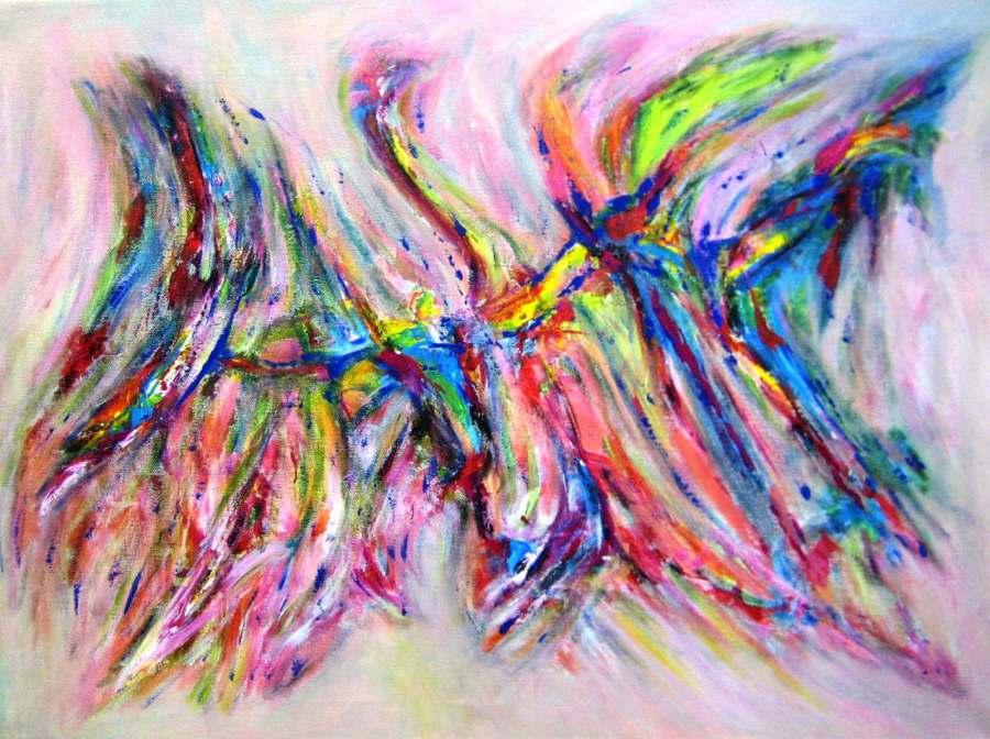 Imagen de Abstracto De Colores. Acrilico sobre lienzo