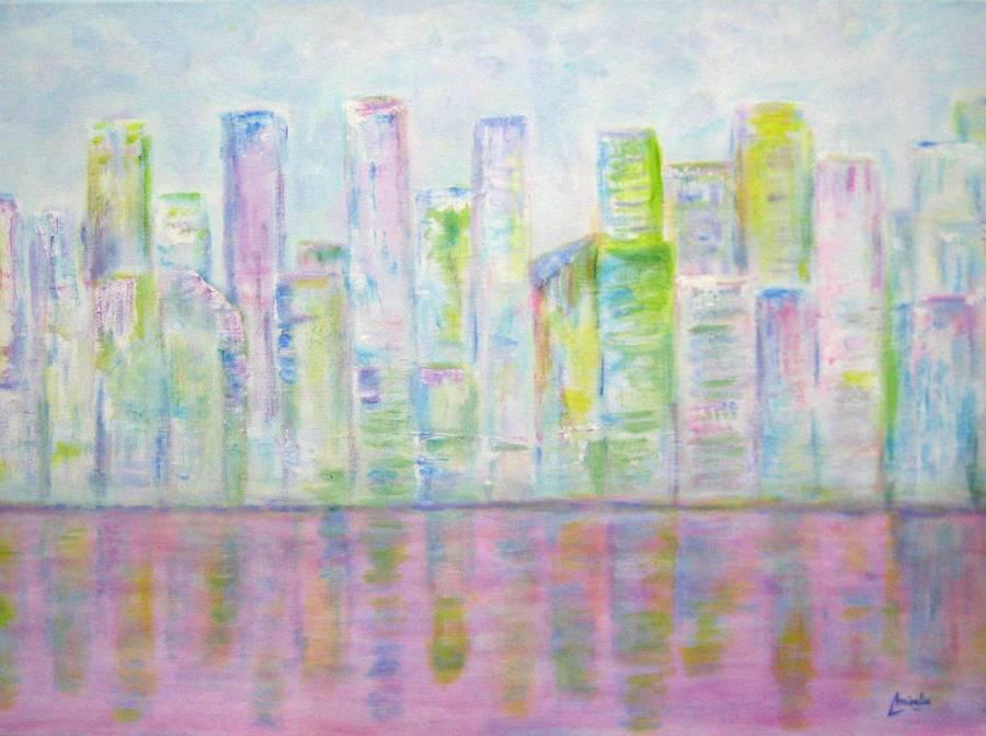 Imagen de Abstracto Ciudad. Acrilico sobre lienzo