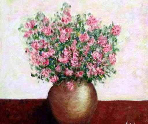 imagen cuadro Jarrón de Flores. Acrilico
