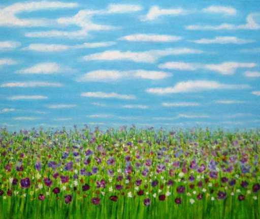 imagen cuadro Felicidad acrilico y oleo sobre lienzo