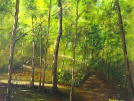 imagen de cuadro Bosque Sombra Oleo