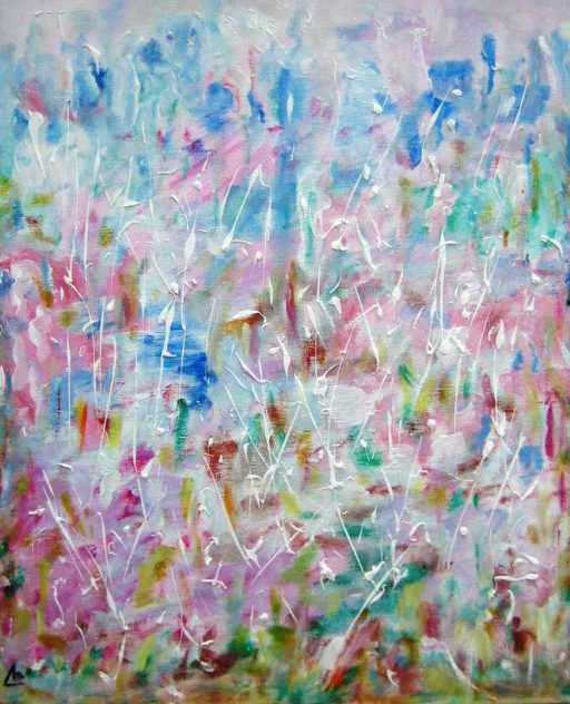 imagen cuadro acrilico lienzo Fiesta en la Ciudad