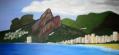Imagen de cuadro oleo Mirelu. Título: Playa de Ipanema.