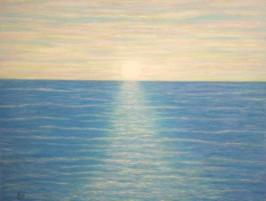 imagen de cuadro oleo Mirelu. Título: Mar de Colores