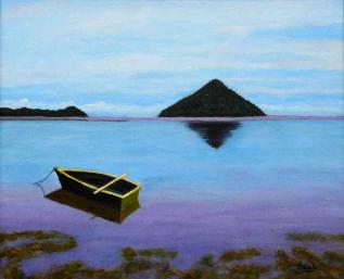 imagen de Marina pintada en acrilico y oleo